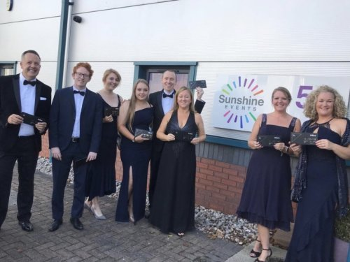 The Fun Experts glammed up ready to attend the BIBAs 2018