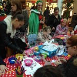 Children using our Crafts Workshop inside a shopping center