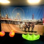 Perfect for Summer themed events our seaside Backdrops go well both inside and outside