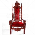 Elaborate Wooden Thrones Hire