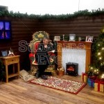 Santa's Christmas Wooden Grotto Facade Hire