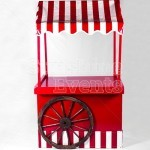 Close Up of an empty Traditional Wooden Cart great for holding gifts, sweets or any event ideas