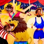 Circus Photo Peep Board Hire