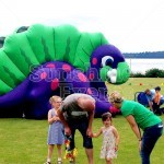Children's Dino Inflatable Slide Hire