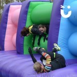 People falling through the Assault Course Mangle