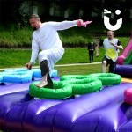 man in dress on the Assault Course Tyres