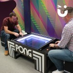 The Atari Pong Table Hire fits perfectly inside of offices making it perfect for corporate events