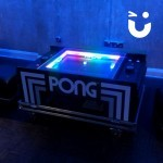 The Atari Pong Table Hire has vibrant lights making it the perfect accessory for events with low light atmosphere