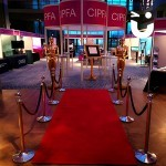 Hollywood Theming Hire all set up for a bespoke awards evening for CIPFA