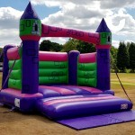 The Bouncy Castle Hire Adult ready for a family fun day