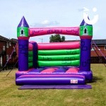 The Bouncy Castle Hire Adult on waiting for the adults to arrive at a local community day