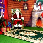 Interior of the Meet and Greet Grotto with Santa