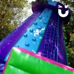 A close up of our Climbing Wall Inflatable Hire