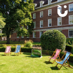 Deck Chairs And Mega Buzz Wire Outside Stately Home