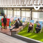 Our Deckchair Hire next to our Giant Games Hire