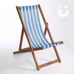 Our Deckchair Hire in blue and white stripe