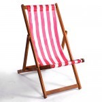 The Deckchair Hire in red and white stripe