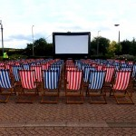The Deckchair Hire ready for a film viewing during an outdoor event