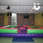 The Gladiator Joust Hire set up for a private indoor event