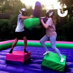 Two children on the Gladiator Joust