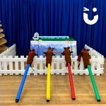 The Gold Cup Reindeer Racing is suitable for all indoor events