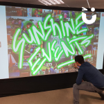 Young and athletic man on our Graffiti Wall Hire