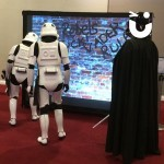 Darth Vader and Storm Troopers using the Graffiti Wall Hire