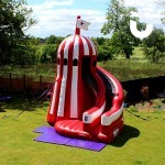 The Helter Skelter Slide Hire set up for a guests private event
