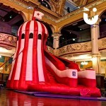 The Helter Skelter will fit into indoors spaces