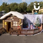 Inflatable Santa's Grotto during an outdoor event