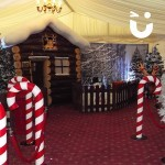 Inflatable Santa's Grotto with Candy Cains