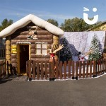 Inflatable Santa's Grotto Outside in the sun