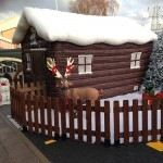 Inflatable Santa's Grotto Outside in the sunshine