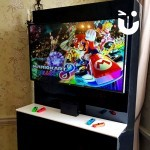 The Nintendo Switch Hire set up inside someones house