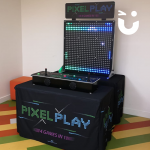 The Pixel Play Hire all set up