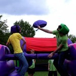 2 boyson the Pole Joust Hire in the middle of a battle