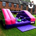 The Pole Joust Hire all set up and ready for an outdoor fun day