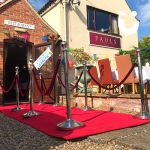 Our Red Carpet all set up during a private party