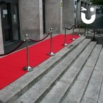 Red Carpet and Stanchions 8m Hire at an outdoor awards evening