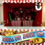 Our Cork Shoot Hire with Roll up Roll up written on the front