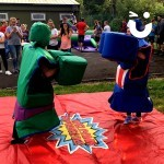 The Hulk and Captain America square up against each other.