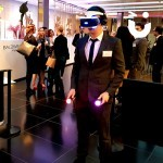 The Playstation Virtual Reality engages a guest at a recent exhibition, where the VR Experience was hired from Sunshine Events