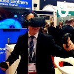 The Virtual Reality Experience being used by a guest at an exhibition, used to engage guests and boost promotion