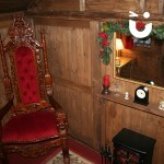 Fire place of Santa's Wooden Grotto