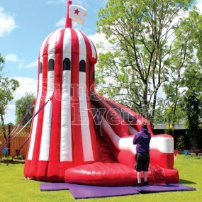 Helter Skelter Inflatable Slide Hire