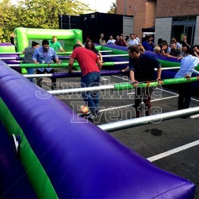 Human Table Football Inflatable Hire