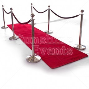 Red Carpet (4m) & Stanchions Hire