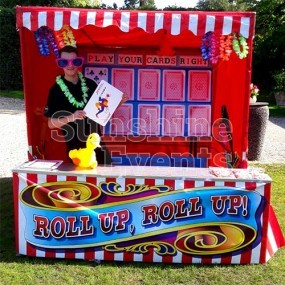 Play Your Cards Right Stall Hire