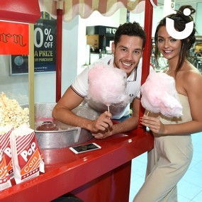 Candy Floss and Popcorn on the same Traditional Cart Hire