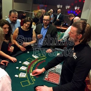 Fun Casino Table Entertainment with Croupier Hire